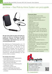 Das Pick-by-Voice System von proLogistik